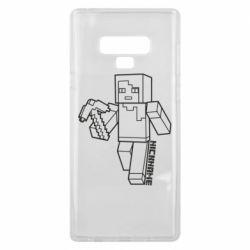 Чехол для Samsung Note 9 Minecraft and hero nickname