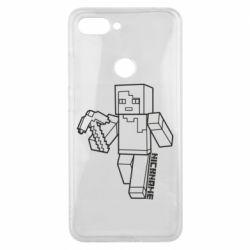 Чехол для Xiaomi Mi8 Lite Minecraft and hero nickname
