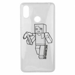 Чехол для Xiaomi Mi Max 3 Minecraft and hero nickname
