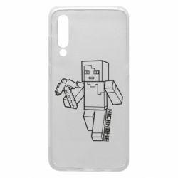 Чехол для Xiaomi Mi9 Minecraft and hero nickname