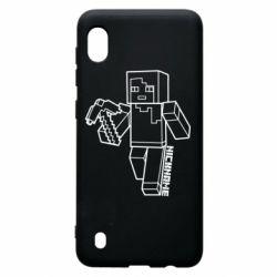 Чехол для Samsung A10 Minecraft and hero nickname
