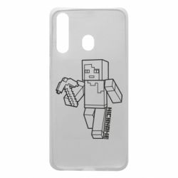 Чехол для Samsung A60 Minecraft and hero nickname