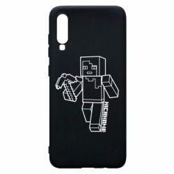 Чехол для Samsung A70 Minecraft and hero nickname
