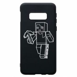 Чехол для Samsung S10e Minecraft and hero nickname