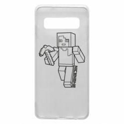 Чехол для Samsung S10 Minecraft and hero nickname