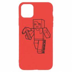 Чехол для iPhone 11 Pro Minecraft and hero nickname
