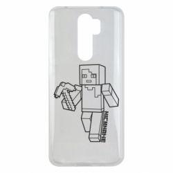 Чехол для Xiaomi Redmi Note 8 Pro Minecraft and hero nickname