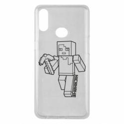 Чехол для Samsung A10s Minecraft and hero nickname