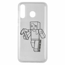Чехол для Samsung M30 Minecraft and hero nickname