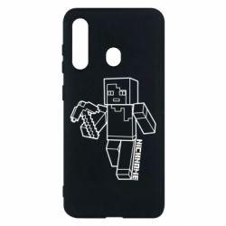 Чехол для Samsung M40 Minecraft and hero nickname
