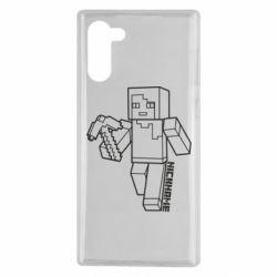 Чехол для Samsung Note 10 Minecraft and hero nickname