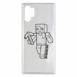 Чехол для Samsung Note 10 Plus Minecraft and hero nickname