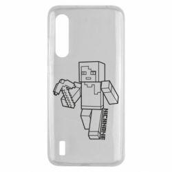 Чехол для Xiaomi Mi9 Lite Minecraft and hero nickname