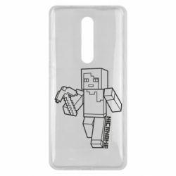 Чехол для Xiaomi Mi9T Minecraft and hero nickname