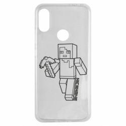Чехол для Xiaomi Redmi Note 7 Minecraft and hero nickname