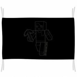 Флаг Minecraft and hero nickname