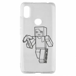 Чехол для Xiaomi Redmi S2 Minecraft and hero nickname