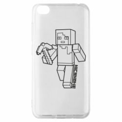 Чехол для Xiaomi Redmi Go Minecraft and hero nickname