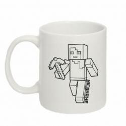 Кружка 320ml Minecraft and hero nickname