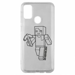 Чехол для Samsung M30s Minecraft and hero nickname