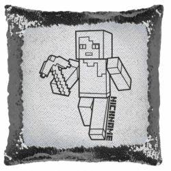 Подушка-хамелеон Minecraft and hero nickname