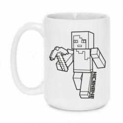 Кружка 420ml Minecraft and hero nickname