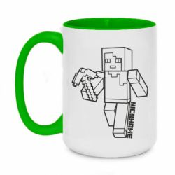 Кружка двухцветная 420ml Minecraft and hero nickname