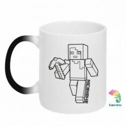 Кружка-хамелеон Minecraft and hero nickname