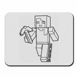 Коврик для мыши Minecraft and hero nickname