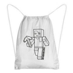 Рюкзак-мешок Minecraft and hero nickname
