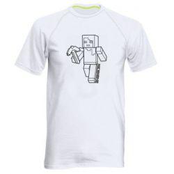 Мужская спортивная футболка Minecraft and hero nickname