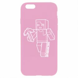 Чехол для iPhone 6 Plus/6S Plus Minecraft and hero nickname