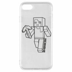 Чехол для iPhone 7 Minecraft and hero nickname