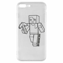 Чехол для iPhone 7 Plus Minecraft and hero nickname