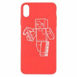 Чехол для iPhone X/Xs Minecraft and hero nickname