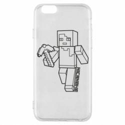Чехол для iPhone 6/6S Minecraft and hero nickname