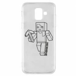 Чехол для Samsung A6 2018 Minecraft and hero nickname