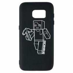 Чехол для Samsung S7 Minecraft and hero nickname