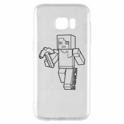 Чехол для Samsung S7 EDGE Minecraft and hero nickname