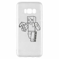 Чехол для Samsung S8 Minecraft and hero nickname