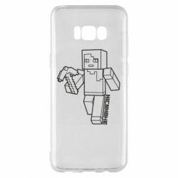 Чехол для Samsung S8+ Minecraft and hero nickname