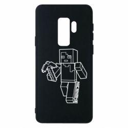 Чехол для Samsung S9+ Minecraft and hero nickname