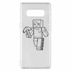 Чехол для Samsung Note 8 Minecraft and hero nickname