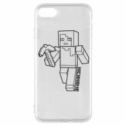 Чехол для iPhone 8 Minecraft and hero nickname