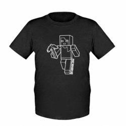 Детская футболка Minecraft and hero nickname