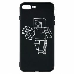 Чехол для iPhone 8 Plus Minecraft and hero nickname