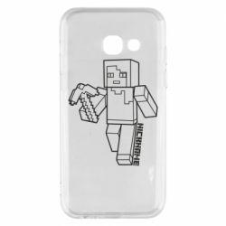 Чехол для Samsung A3 2017 Minecraft and hero nickname