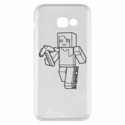 Чехол для Samsung A5 2017 Minecraft and hero nickname
