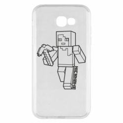 Чехол для Samsung A7 2017 Minecraft and hero nickname