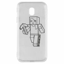 Чехол для Samsung J3 2017 Minecraft and hero nickname